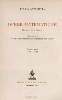 Opere matematiche : memorie e note. Vol. 3, 1908-1916 / Spis i dodatki