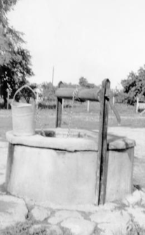 A well with a winch