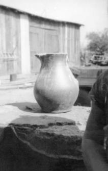 A stoneware vessel