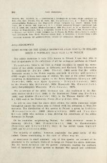 Some notes on the edible dormouse ( Glis glis L.) in Poland; Nieco o popielicy ( Glis glis L.) w Polsce