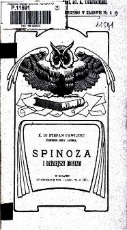 Spinoza i dzisiejszy monizm