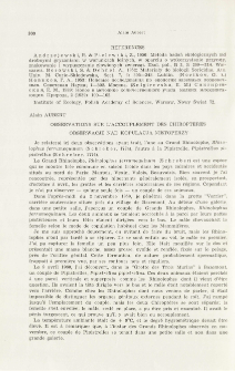 Observations sur l'accouplement des Chiropters; Obserwacje nad kopulacją nietoperzy