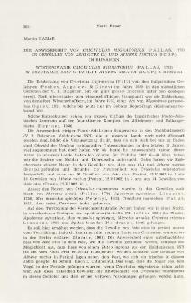 Die Anwesenheit von Cricetulus migratorius (Pallas, 1773) in Gewöllen von Asio otus (L.) und Athene noctua (Scop.) in Rumänien; Występowanie Cricetulus migratorius (Pallas, 1773) w zrzutkach Asio otus (L.) i Athene noctua (Scop.) z Rumunii