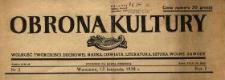 Obrona Kultury : wolność twórczości duchowej, nauka, oświata, literatura, sztuka, wolne zawody 1938 N.2