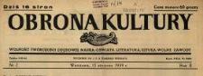 Obrona Kultury : wolność twórczości duchowej, nauka, oświata, literatura, sztuka, wolne zawody 1939 N.2