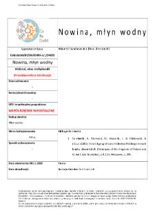 Nowina, watermill