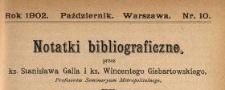 Notatki Bibliograficzne 1902 N.10
