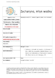 Zacharyno, watermill