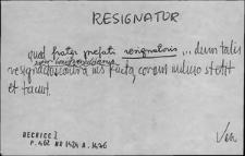Kartoteka Słownika Łaciny Średniowiecznej; resignator - restitutorius