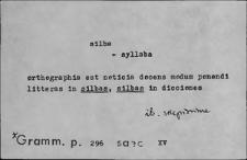 Kartoteka Słownika Łaciny Średniowiecznej; silba - sinapizo