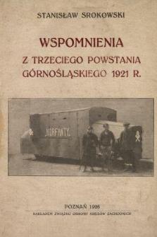 Wspomnienia z trzeciego powstania górnośląskiego 1921 r.