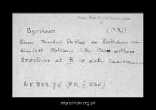 Byszewo. Kartoteka powiatu makowskiego w średniowieczu. Kartoteka Słownika historyczno-geograficznego Mazowsza w średniowieczu
