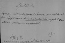 Kartoteka Słownika Łaciny Średniowiecznej; spica - stamen