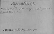 Kartoteka Słownika Łaciny Średniowiecznej; superabilis - superstitus