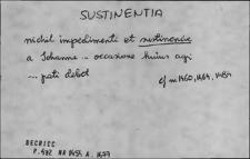 Kartoteka Słownika Łaciny Średniowiecznej; sustinentia - szypus