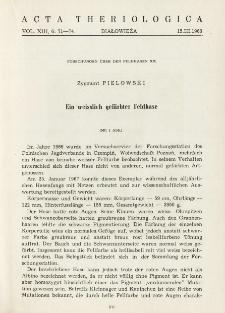 Studies on the european hare. XX. Ein weisslich gefärbter Feldhase