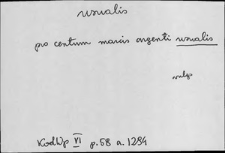 Kartoteka Słownika Łaciny Średniowiecznej; usualis - uxoror