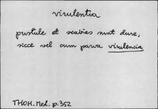 Kartoteka Słownika Łaciny Średniowiecznej; virulentia - vitrum