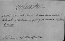 Kartoteka Słownika Łaciny Średniowiecznej; volunto - vulvula