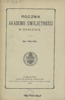 Rocznik Akademii Umiejętności w Krakowie.