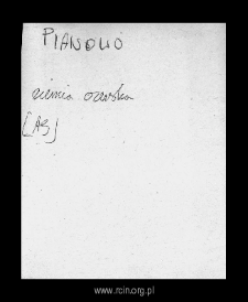 Pianowo. Files of Czersk district in the Middle Ages. Files of Historico-Geographical Dictionary of Masovia in the Middle Ages