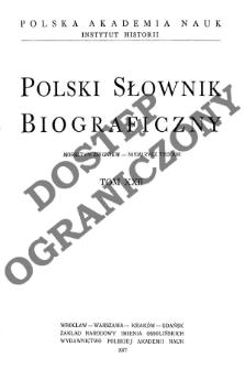 Polski słownik biograficzny T. 22 (1977), Morsztyn Zbigniew - Niemirycz Teodor, Część wstępna
