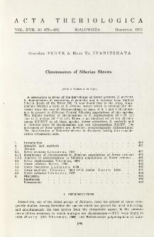 Chromosomes of Siberian shrews