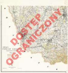 Powiat Cieszyn : województwo katowickie : skala 1:25 000