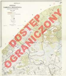 Powiat Dąbrowa Białostocka : województwo białostockie : skala 1:25 000