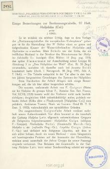 Einige Bemerkungen zur Bestimmungstabelle, 97 Heft, Haliplidae (Col.)