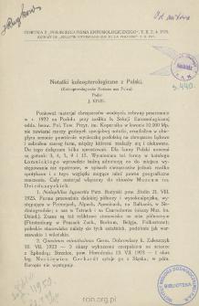 Notatki koleopterologiczne z Polski = Koleopterologische Notizen aus Polen