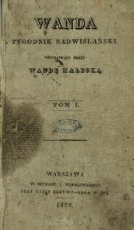Wanda : tygodnik nadwiślański 1828 N.1-12