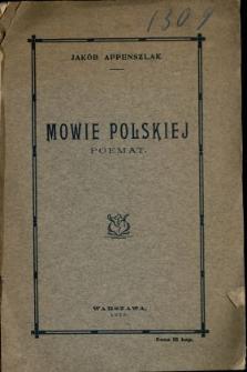Mowie polskiej : poemat