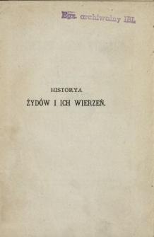 Historya Żydów i ich wierzeń, (wyłożona w skróceniu)