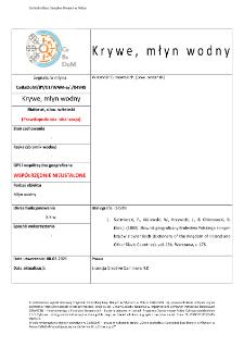 Krywe, watermill