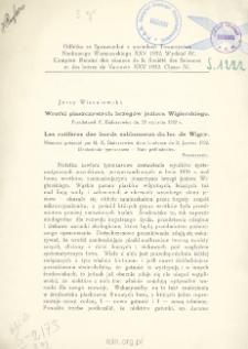 Wrotki piaszczystych brzegów jeziora Wigierskiego: streszczenie = Les rotifères des bords sablonneux du lac de Wigry: [résumé]