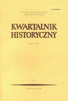 Kwartalnik Historyczny R. 90 nr 1 (1983), Recenzje