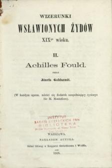 Wizerunki wsławionych Żydów XIX wieku. 2, Achilles Fould