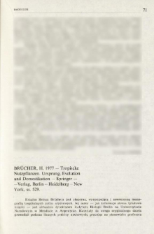 Brücher, H. 1977 - Tropische Nutzpflanzen. Ursprung, Evolution und Domestikation - Springer-Verlag, Berlin-Heidelberg-New York, ss. 529