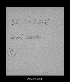 Szczytnik. Files of Czersk district in the Middle Ages. Files of Historico-Geographical Dictionary of Masovia in the Middle Ages