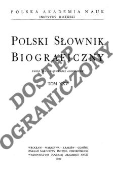 Pałaszowski Jan Józef - Pardo Stanisław