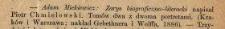 [Recenzja:] Adam Mickiewicz, zarys biograficzno-literacki, napisał Piotr Chmielowski [...]