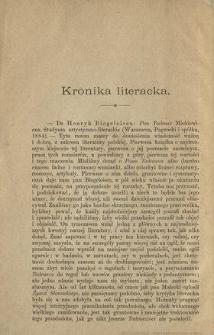 Dr Henryk Biegeleisen Pan Tadeusz Mickiewicza [...] : [recenzja]