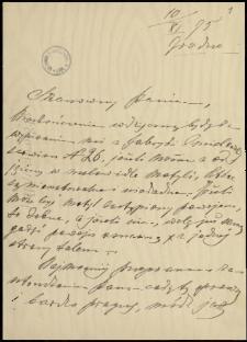 Listy do Jana Grzeżułki z lat 1895-1909