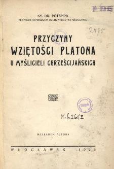 Przyczyny wziętości Platona u myślicieli chrześcijańskich