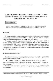 Elektronowy rezonans paramagnetyczny jonów o spinie 7/2 w polu krystalicznym o symetrii tetragonalnej