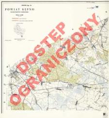 Powiat Kępno : województwo poznańskie : skala 1:25 000