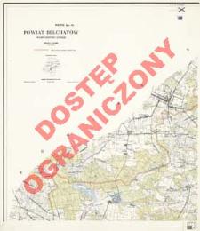 Powiat Bełchatów : województwo łódzkie : skala 1:25 000