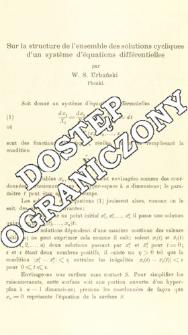 Sur la structure de l'ensemble des solutions cycliques d'un système d'équations différentielles