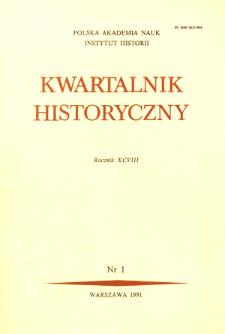 Kwartalnik Historyczny R. 98 nr 1 (1991), Listy do redakcji